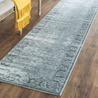 Oakfield Blue Area Rug Rug Size: Runner 22 x 8