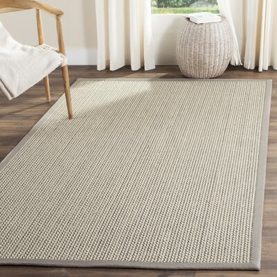 Hand-Woven Gray Area Rug Rug Size: Rectangle 8 x 10