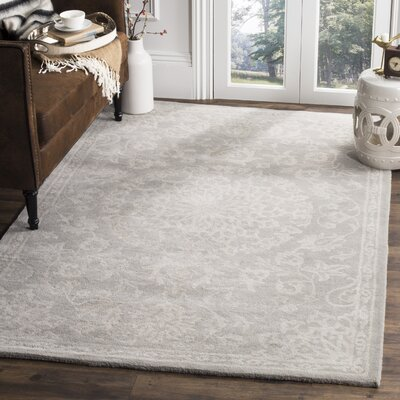 Wool Gray/Silver Area Rug Rug Size: Rectangle 4 x 6