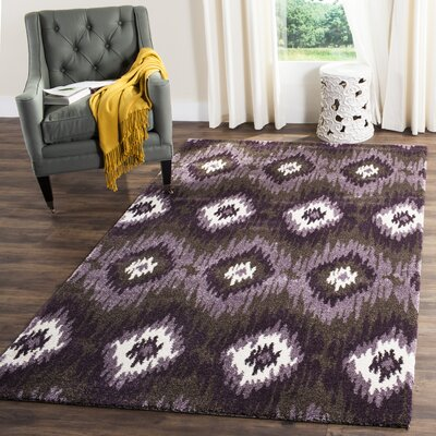 Greenhill Dark Brown/White Area Rug Rug Size: Rectangle 5 x 8