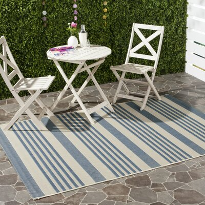Kirts Blue/Beige Indoor/Outdoor Area Rug Rug Size: Rectangle 4 x 57