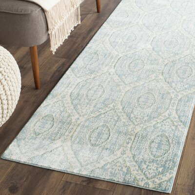Longeville Bright Alpine/Cream Area Rug Rug Size: Runner 23 x 8