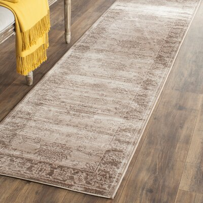 Lafond Beige/Light Brown Area Rug Rug Size: Runner 22 x 8