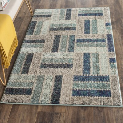 Mercado Gray/Blue Area Rug Rug Size: Rectangle 67 x 92