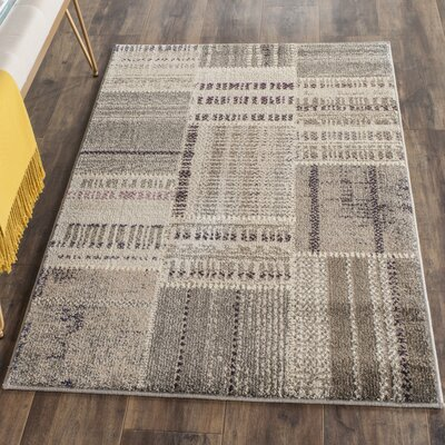 Tucker Madera Gray Area Rug Rug Size: Rectangle 51 x 77