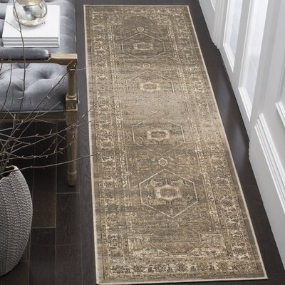 Ercole Mouse Wool Area Rug Rug Size: Runner 22 x 8