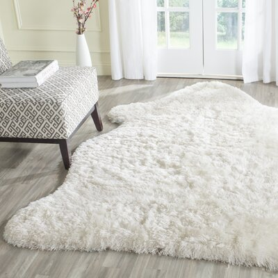 Chantrell Hand-Tufted/Hooked Ivory Area Rug Rug Size: Rectangle 4 x 6