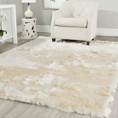 Oakdene Ivory Area Rug Rug Size: Rectangle 4 x 6
