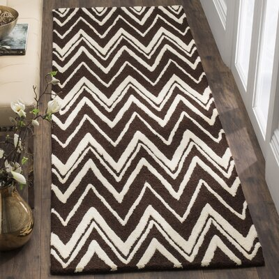 Martins Hand-Tufted Brown Area Rug Rug Size: Runner 26 x 8