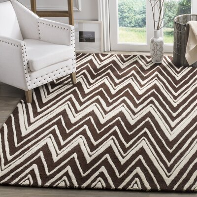 Martins Hand-Tufted Brown Area Rug Rug Size: Rectangle 5 x 8