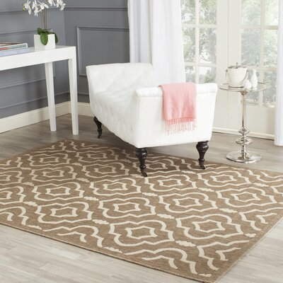 Octavius Brown/Bone Indoor/Outdoor Area Rug Rug Size: Rectangle 2 x 37