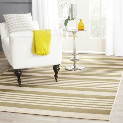 Sophina Green/Beige Indoor/Outdoor Area Rug Rug Size: Rectangle 4 x 57