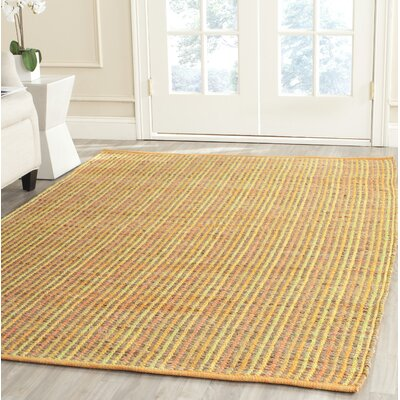 Abia Hand-Woven Yellow Area Rug Rug Size: Rectangle 5 x 8