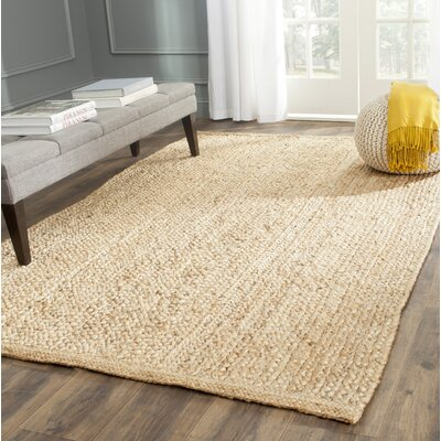 Greene Hand-Woven Natural Area Rug Rug Size: Rectangle 5 x 8