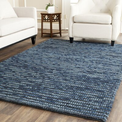 Makhi Hand-Knotted Dark Blue Area Rug Rug Size: Rectangle 3 x 5