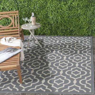 Octavius Anthracite/Beige Indoor/Outdoor Area Rug Rug Size: Rectangle 27 x 5
