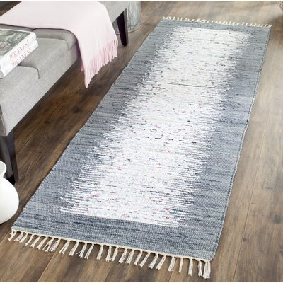 Jameson Contemporary Hand-Woven Ivory/Gray Area Rug Rug Size: Runner 23 x 6
