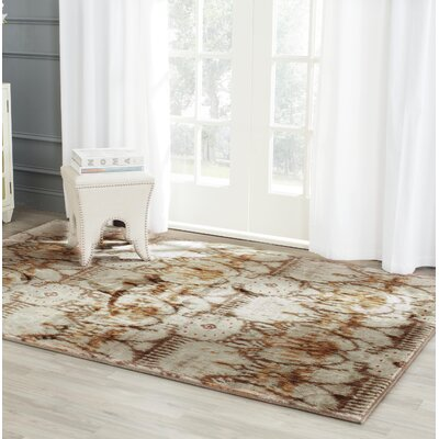 Infinity Oriental Brown/Beige Area Rug Rug Size: Rectangle 4 x 6