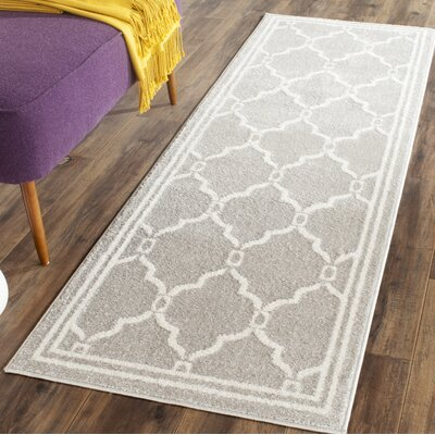 Maritza Light Gray/Ivory Indoor/Outdoor Area Rug Rug Size: Runner 23 x 7