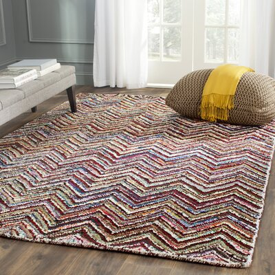 Anaheim Hand Tufted Chevron Area Rug Rug Size: Rectangle 4 x 6