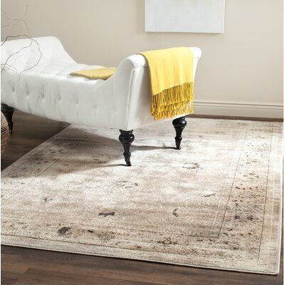Talmont Light Gray/Ivory Area Rug Rug Size: Rectangle 67 x 92