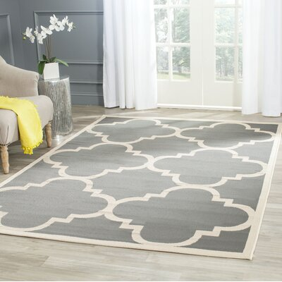 Octavius Gray/Beige Indoor/Outdoor Area Rug Rug Size: Rectangle 53 x 77