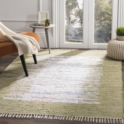 Ona Hand-Woven Ivory/Olive Area Rug Rug Size: Rectangle 3 x 5