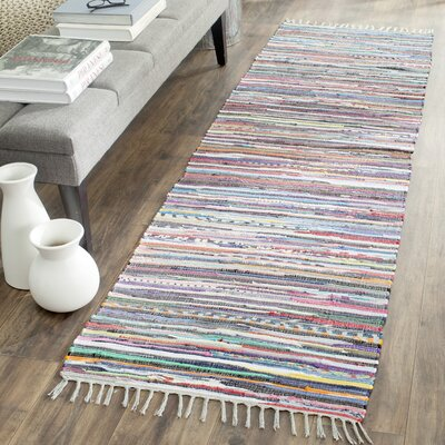 Wilcox Fairview Hand-Woven Gray Area Rug Rug Size: Runner 23 x 6