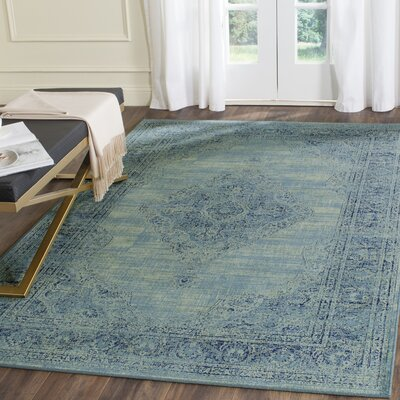 Makenna Turquoise Area Rug Rug Size: Rectangle 53 x 76