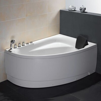 Single Person Corner 59 x 39.4 Whirlpool Drain Location: Left