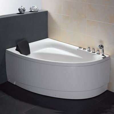 Single Person Corner 59 x 39.4 Whirlpool Drain Location: Right