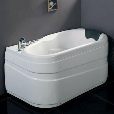 Acrylic Corner 57.13 x 29.88 Bathtub Drain Location: Left