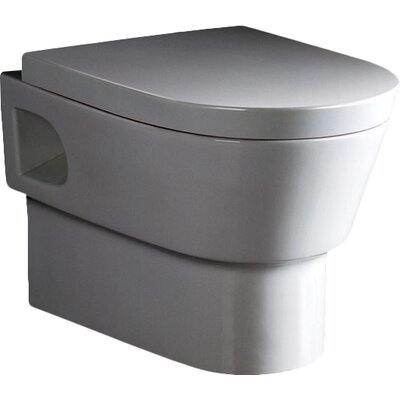 Square Modern Dual Flush Toilet Bowl