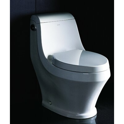 Single Siphonic Flush Ceramic 1.28 GPF Elongated One-Piece Toilet