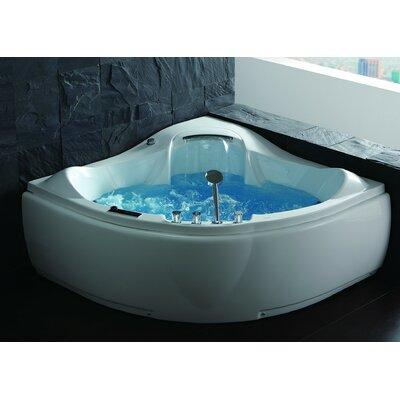Acrylic Jetted 59 x 59 Corner Whirlpool Bathtub