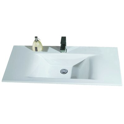Ceramic Rectangular 32 x 19 Self Rimming Sink Bathroom Sink