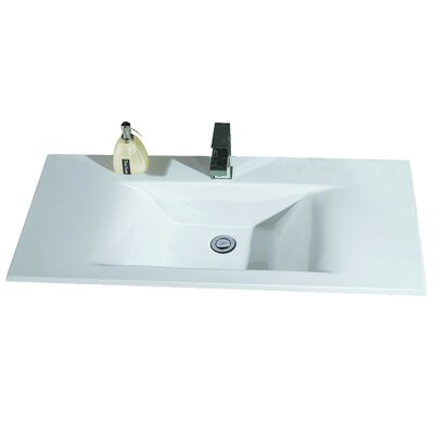 Ceramic Rectangular 40 x 19 Single Bowl Drop In Kitchen Sink