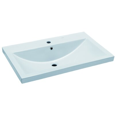 Ceramic Rectangular 32 x 19 Single Bowl Drop In Kitchen Sink