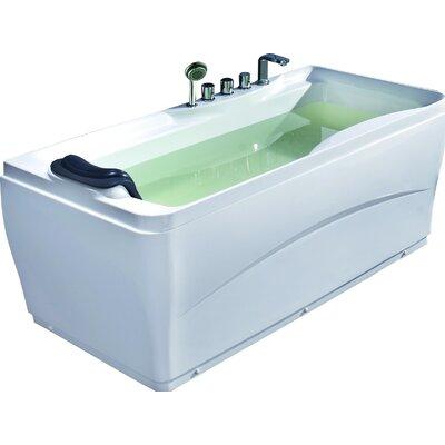 Acrylic 63 x 29.5 Freestanding Soaking Bathtub Drain Location: Left