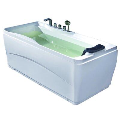 Acrylic 63 x 29.5 Freestanding Soaking Bathtub Drain Location: Right