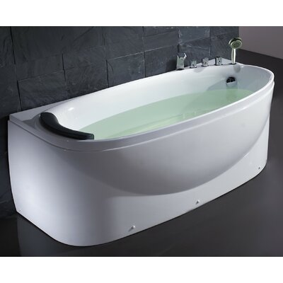 Acrylic 72 x 31.5 Freestanding Soaking Bathtub Drain Location: Right
