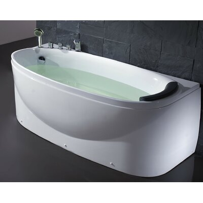 Acrylic 72 x 31.5 Freestanding Soaking Bathtub Drain Location: Left