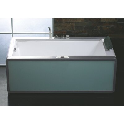 Rectangular 70.9 x 35.5 Freestanding Whirlpool Bathtub Drain Location: Left