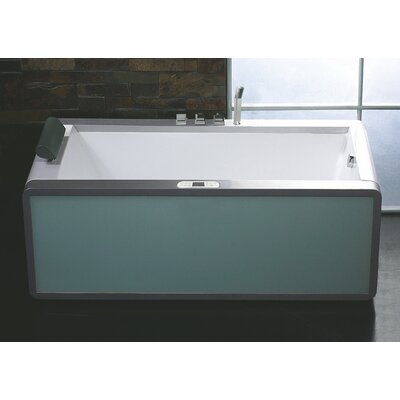 Rectangular 70.9 x 35.5 Freestanding Whirlpool Bathtub Drain Location: Right