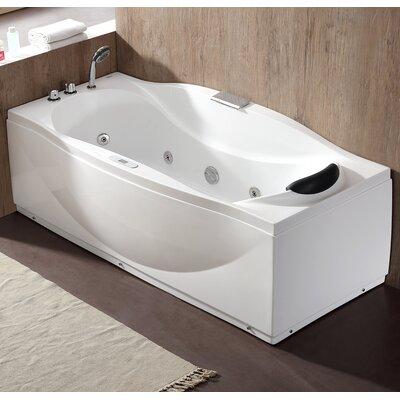 70.5 x 31.9 Freestanding Whirlpool Bathtub Drain Location: Left