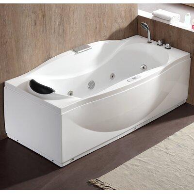 70.5 x 31.9 Freestanding Whirlpool Bathtub Drain Location: Right