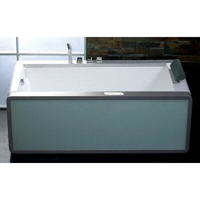 71 x 36 Modern Whirlpool Bathtub Configuration: Left