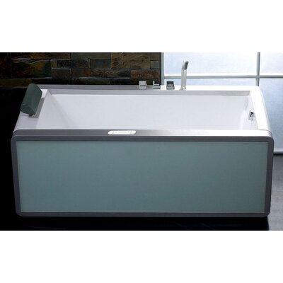 71 x 36 Modern Whirlpool Bathtub Configuration: Right