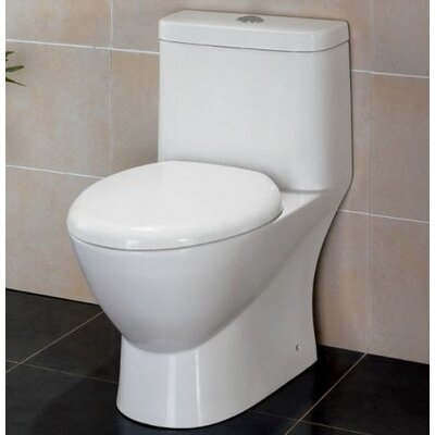 Modern Dual Flush Elongated One-Piece Toilet