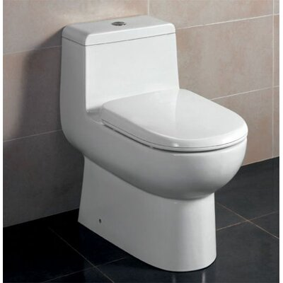 Ceramic Dual Flush Elongated One-Piece Toilet
